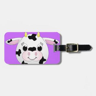 Cute Cow Bag Tag