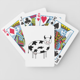 Cute Cow Bicycle Playing Cards