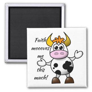 Cute Cow | Bull Faith Magnet - Kitchen Decor