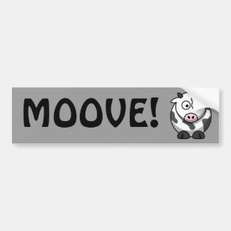 Cute Cow Bumper Sticker