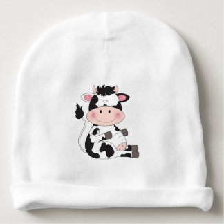 Cute Cow Cartoon Baby Beanie