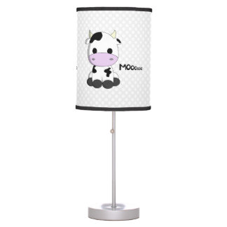 Cute cow cartoon nursery table lamp