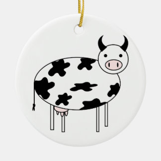 Cute Cow Ceramic Ornament