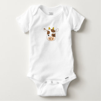 cute cow face baby onesie