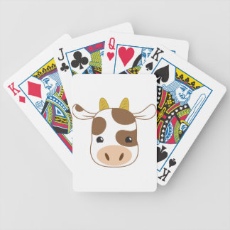 cute cow face bicycle playing cards