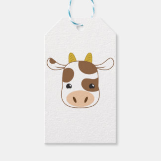 cute cow face gift tags