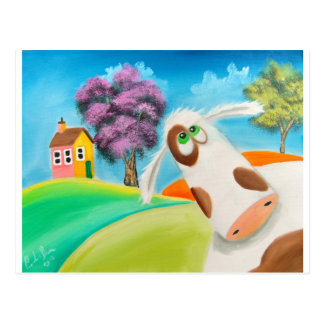CUTE COW FACE Gordon Bruce art Postcard