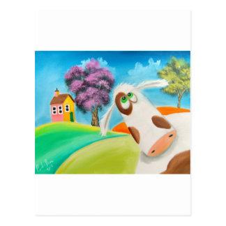 CUTE COW FACE Gordon Bruce art Postcard