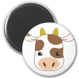cute cow face magnet