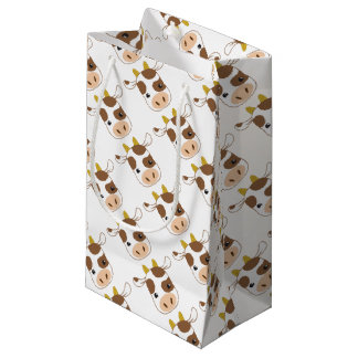 cute cow face small gift bag