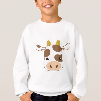 cute cow face sweatshirt