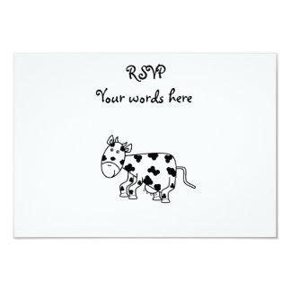 Cute cow 3.5x5 paper invitation card