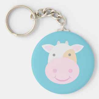 Cute Cow Keychain