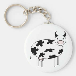 Cute Cow Keychain