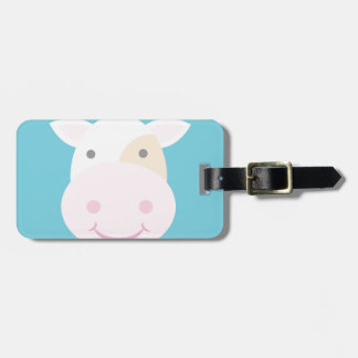 Cute Cow Luggage Tag