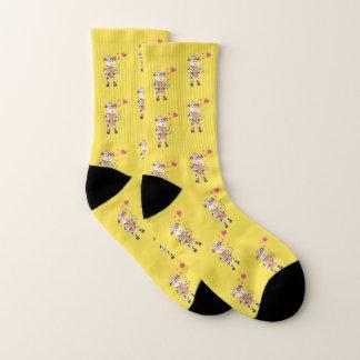 Cute cow pattern Valentine's Day socks
