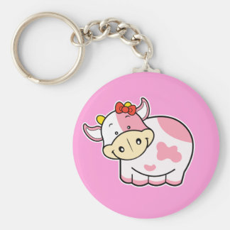 Cute Cow Pink Keychain