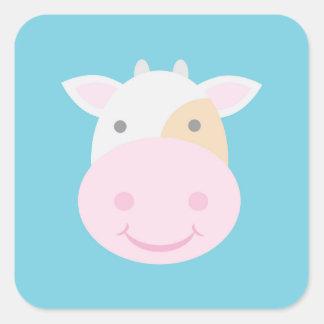 Cute Cow Square Sticker