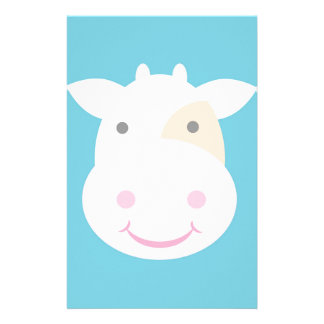 Cute Cow Stationery Design
