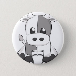 Cute cow - Vaquinha fofa 2 Inch Round Button