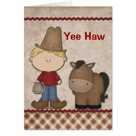 Cute Cowboy Birthday Greeting Card