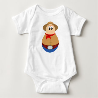 Cute Cowboy Design Baby Bodysuit
