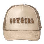 Cute Cowgirl in the Barn Mesh Hats