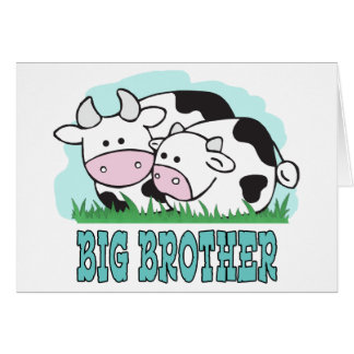 Cute Cows Big Brother Note Card