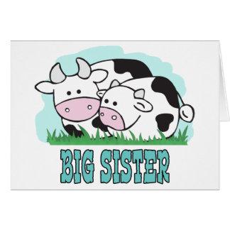 Cute Cows Big Sister Note Card