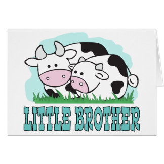 Cute Cows Little Brother Note Card