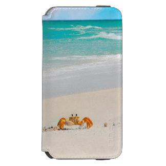 Cute Crab on a Tropical Beach Incipio Watson™ iPhone 6 Wallet Case