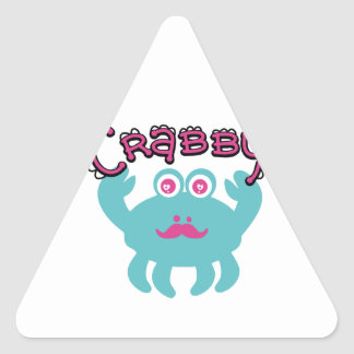 Cute Crabby Kawaii Triangle Sticker