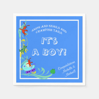 Cute Crawfish Cajun Baby Boy Paper Napkins
