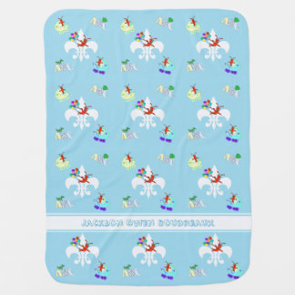 Cute Crawfish Cajun Baby Boy Swaddle Blankets