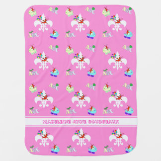 Cute Crawfish Cajun Baby Girl Swaddle Blankets