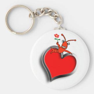 Cute Crawfish (Lobster) Heart Love Keychain