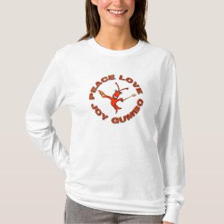 Cute Crawfish Peace Love  Joy Gumbo T-Shirt