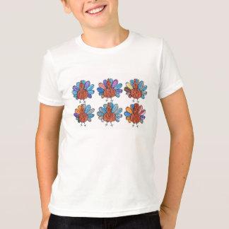 Cute Crayon Turkeys Kids Shirt