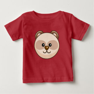 Cute Cream Bear Cartoon Red Custom Baby Baby T-Shirt
