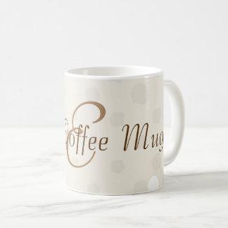 Cute Cream Dots Monogrammed Good Coffee Mug