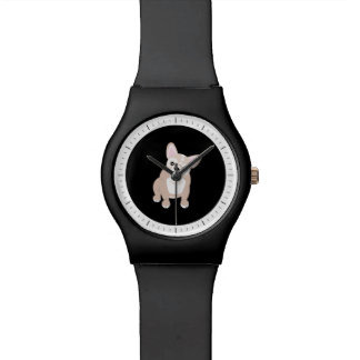 Cute Cream French Bulldog Watch