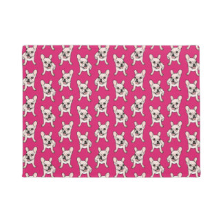 Cute cream Frenchie is ready to play Doormat