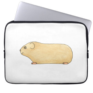 Cute Cream Guinea Pig. Laptop Sleeve