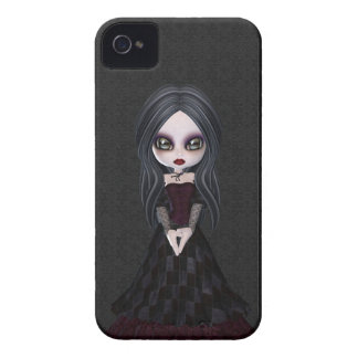 Cute & Creepy Little Goth Girl BlackBerry Bold iPhone 4 Case