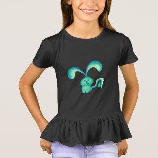 """Cute critter """"water bunny"""" girls ruffle t-shirt"""