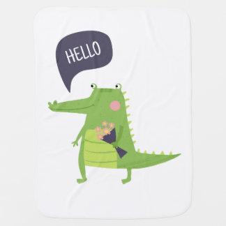 Cute crocodile baby blanket