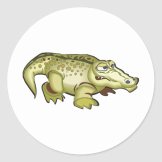 Cute Crocodile Classic Round Sticker