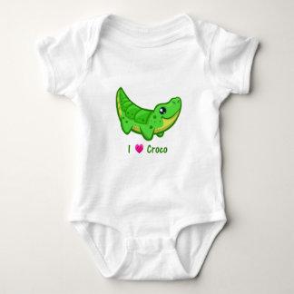 Cute crocodile love kawaii cartoon baby shirt