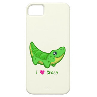 Cute crocodile love kawaii cartoon kids case for the iPhone 5