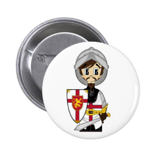 Cute Crusader Knight Badge 2 Inch Round Button